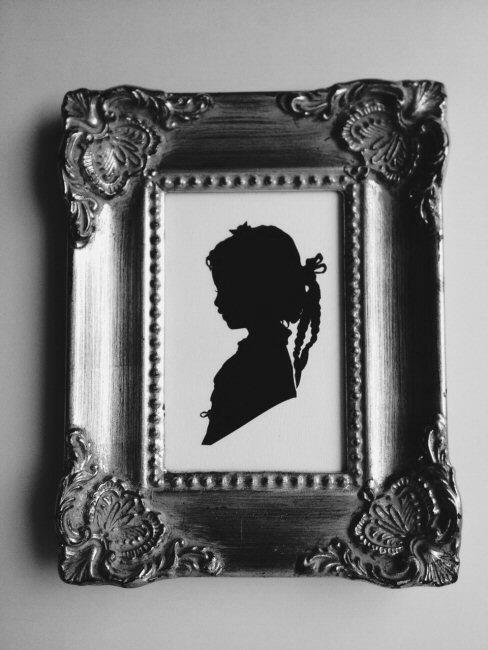 silhouette jeune fille